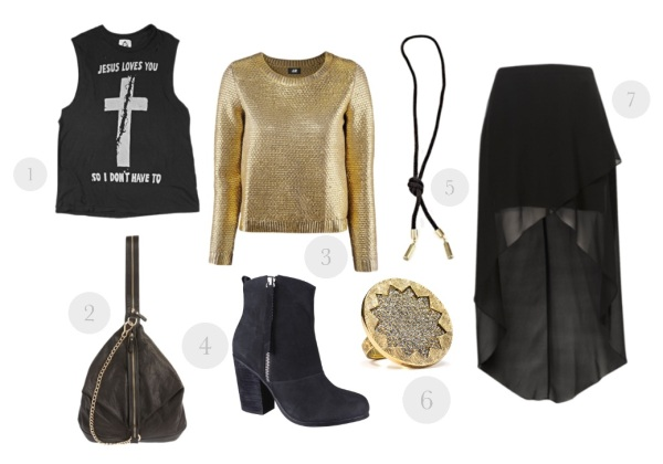 gold lame, metalic knit, polyvore, maxi skirt, grunge, unif, jesus loves you so I dont have to, sass and bide